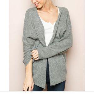 Brandy Melville gray wool blend Caroline cardigan